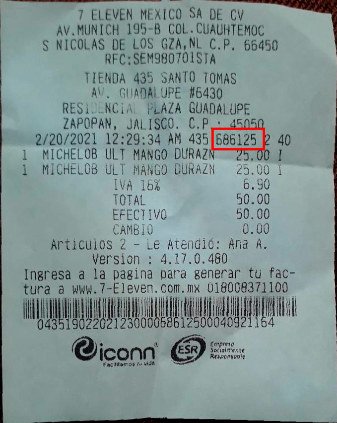 Receipt where Regex needs to be applied